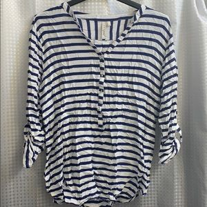 NWOT* Blue and white striped shirt!